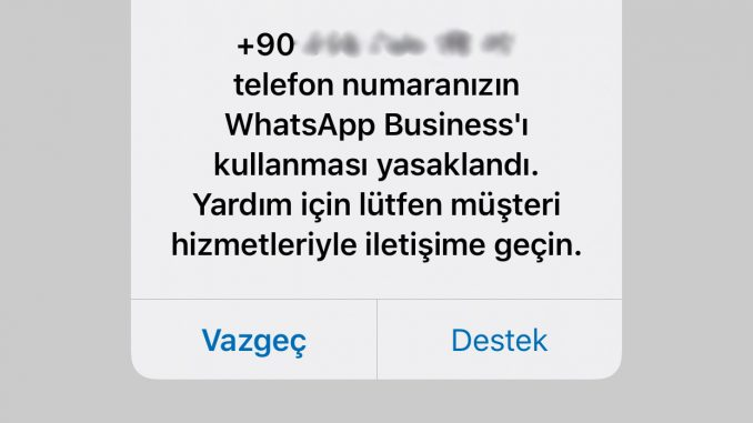 Yasakalanan, kapanan whatsapp hesabı nasıl açılır